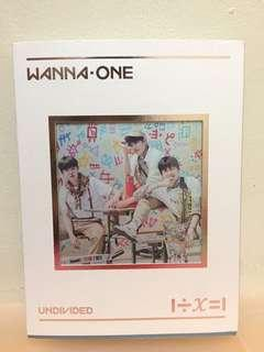 WANNA ONE UNDIVIDED ALBUM TRIPLE POSITION VER