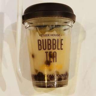 Etude house bubble tea milk tea sago pearl sleeping mask