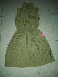 Dress simple hijau