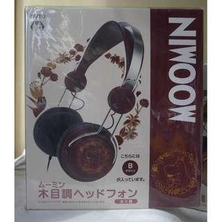[日版] 姆明仿木製耳筒 Moomin wooden-liked headphone