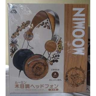 [日版] 史力奇仿木製耳筒 Snufkin wooden-liked headphone