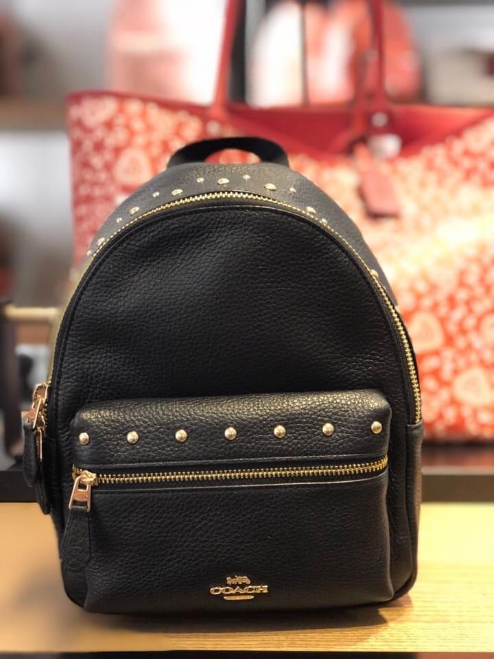 b94198416aced 240 PO SALE! Coach Charlie Charlie Mini Backpack- Black & Orange ...