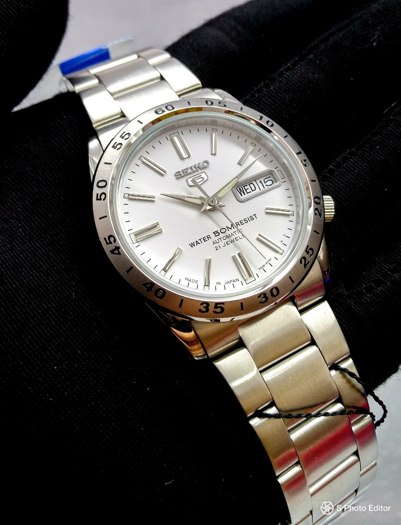 3d29de66732 FREE DELIVERY   Made In Japan Brand New 100% Authentic Seiko 5 White ...