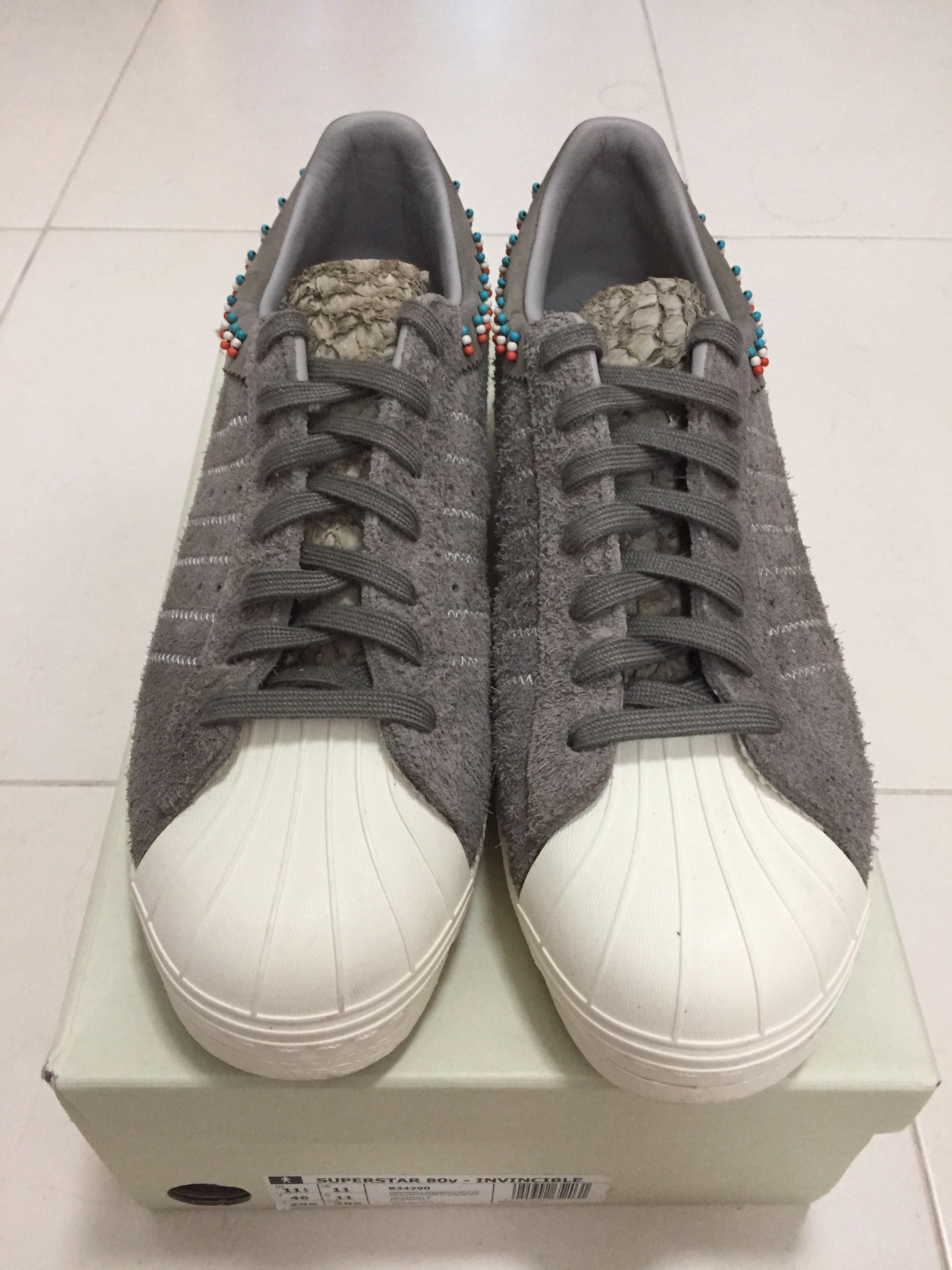 super popular 9dac9 7282a Adidas Consortium x Invincible Superstar 80v - UK 11, Mens Fashion,  Footwear, Sneakers on Carousell
