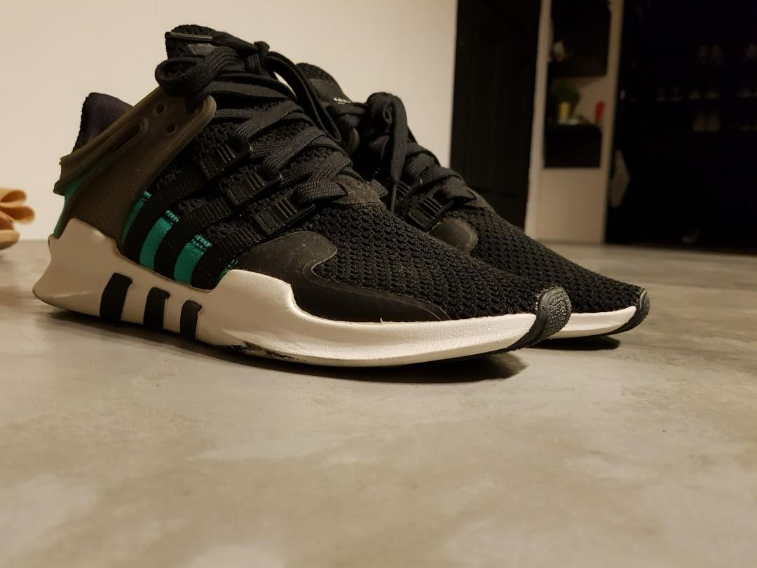 more photos fe078 3e6ae Adidas EQT Black Green size UK 8, Men's Fashion, Footwear ...
