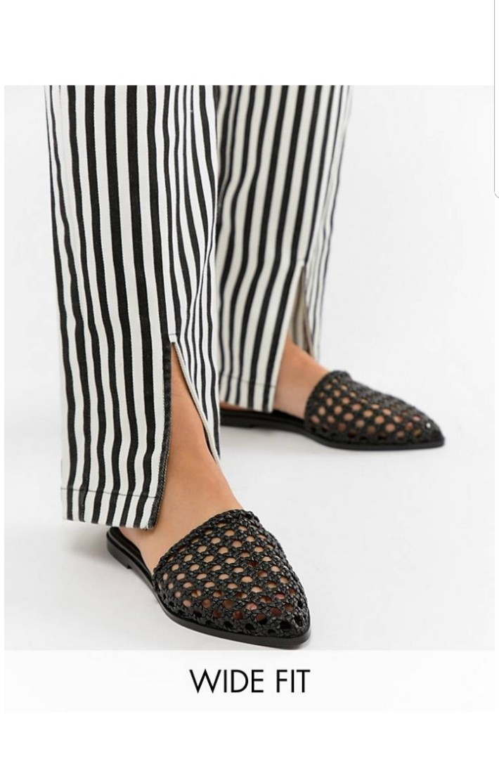 3f402683736d9 ASOS Woven Mules EU38, Women's Fashion, Shoes, Flats & Sandals on ...