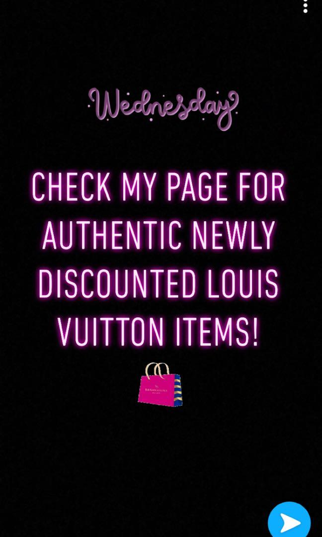 AUTHENTIC DISCOUNTED LOUIS VUITTON ITEMS