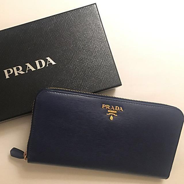 the best attitude 0078f 19f15 BN Prada Wallet Portafoglio Lampo 1ML506 in BLUE, Luxury ...