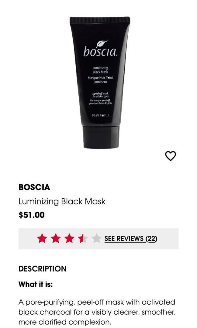 Boscia Luminizing Black Mask Health Beauty Face Skin Care On