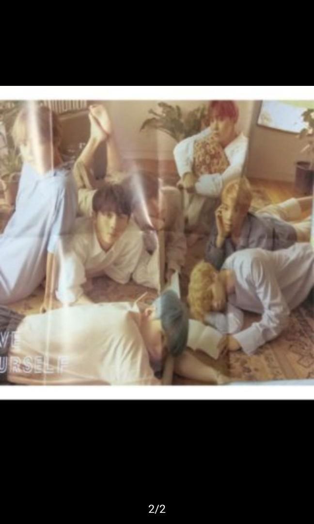 BTS 防彈少年團 young forever love yourself 海報