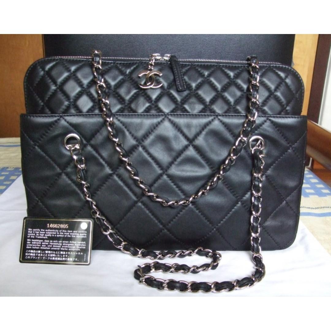 1fb260cec9ee Chanel black calf leather Portobello Bag