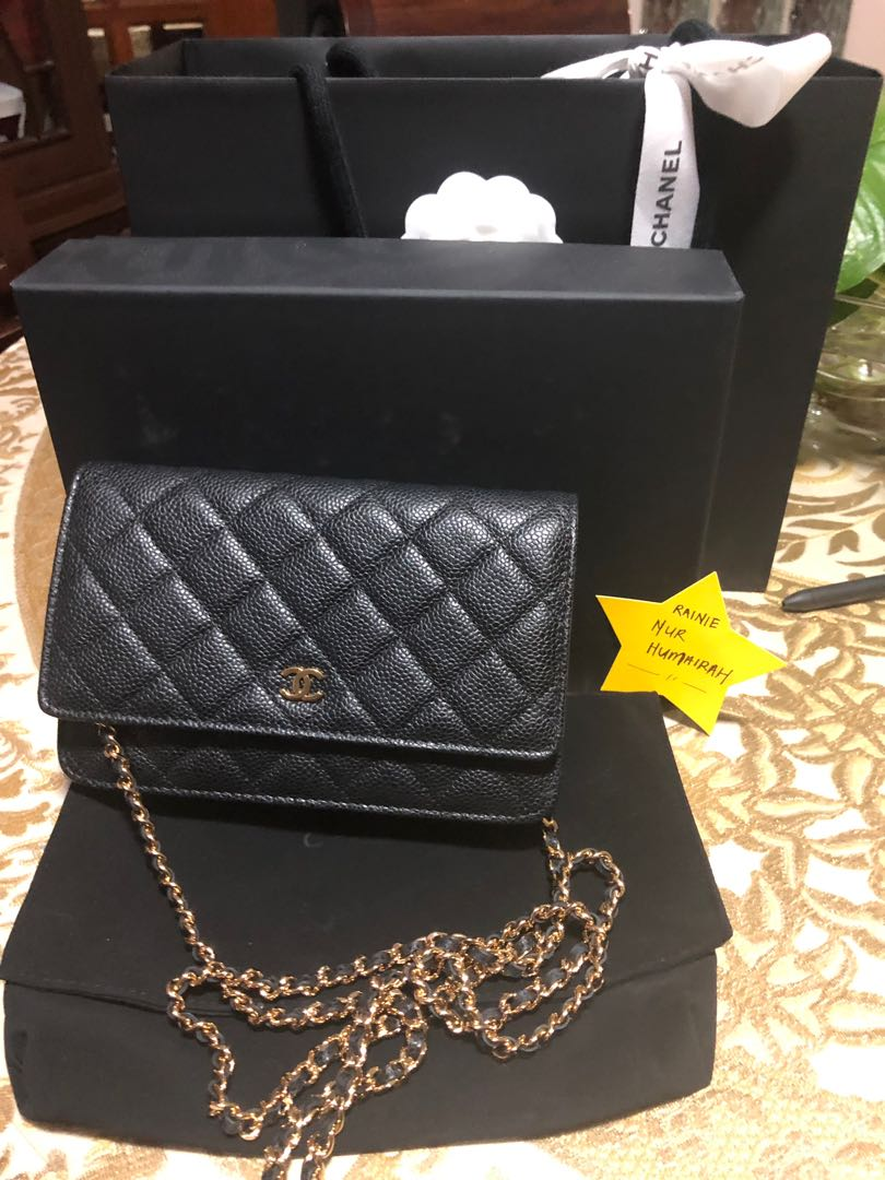 94acfb2757ab04 Chanel WOC Black Caviar with GHW., Luxury, Bags & Wallets, Handbags ...