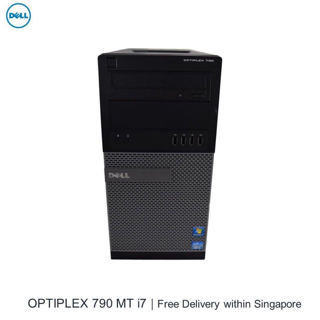 Dell Optiplex 790 MT PC intel Core i7-2600 #3 4GHz 8GB RAM 180GB SSD, 1TB  SATA HDD New AMD Fire V3900 1GB video editing DVD-RW Free Wifi Windows 10