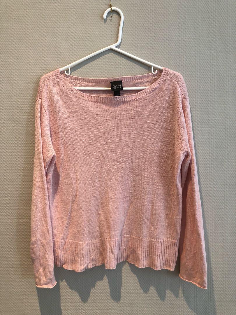 Eileen Fisher linen sweater small, but fits like a medium