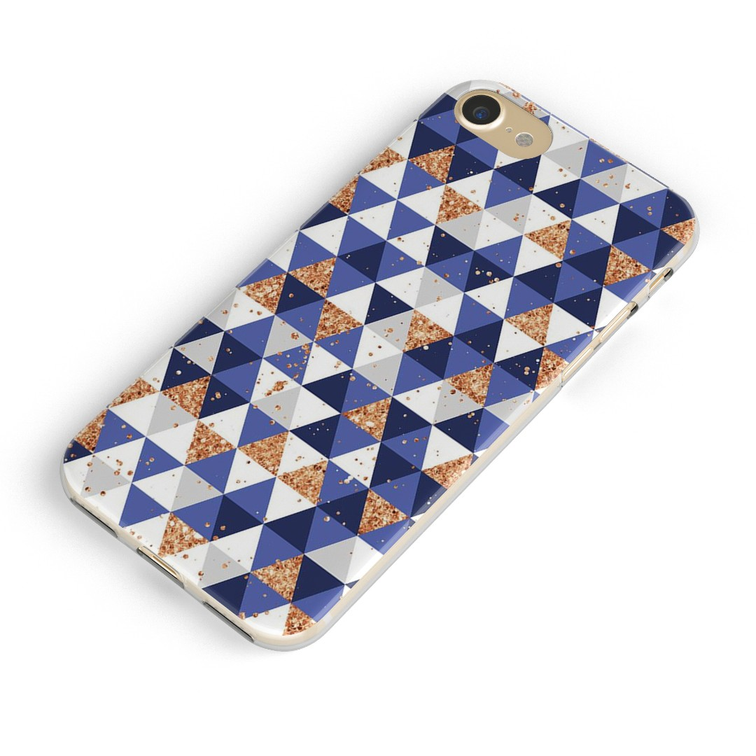 Gold and Blue Triangles Phone Case