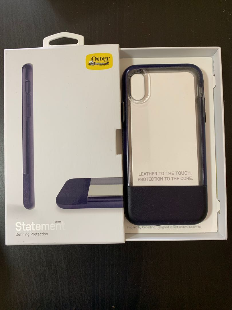 brand new 77f87 67662 iPhone XS Otterbox Statement Case with Leather (Blue)