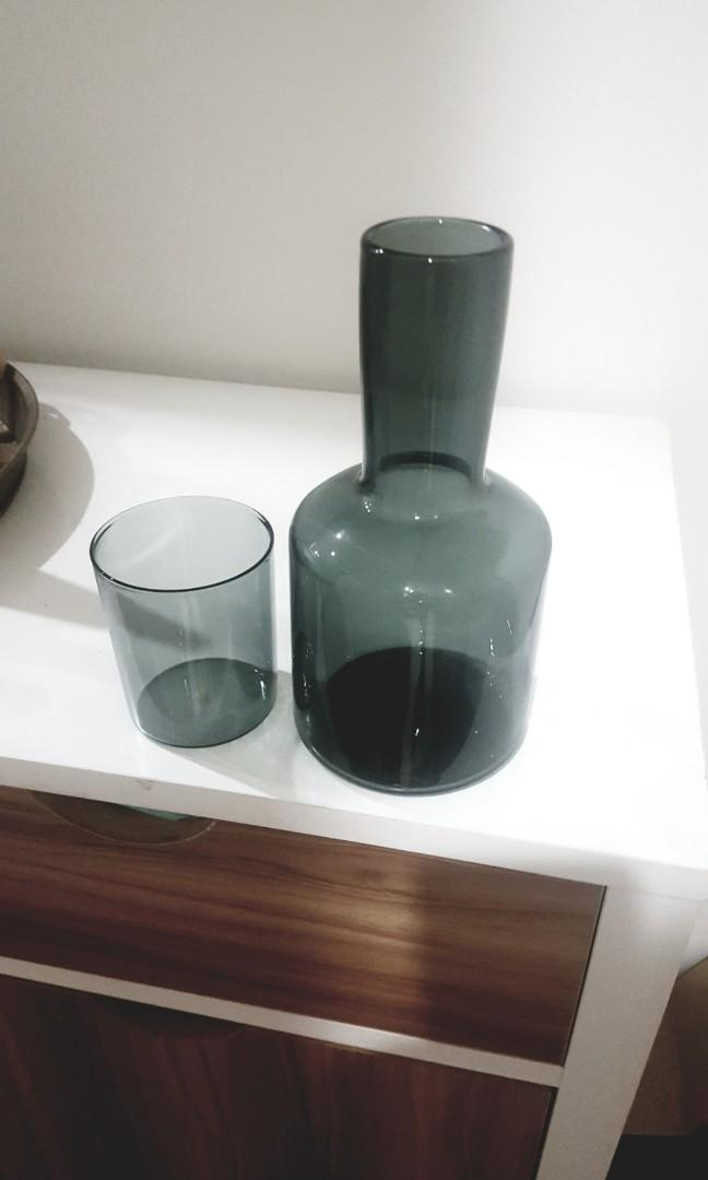 J'AI SOIF One glass carafe -Handmade near the Grasslands of Mongolia