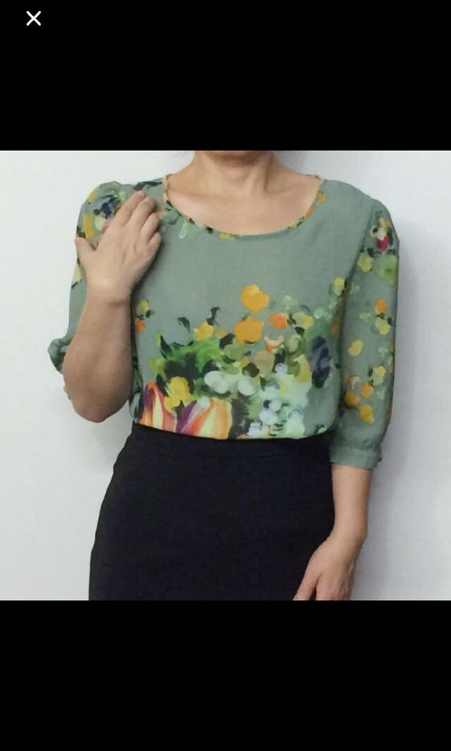 394618f174171d Korean office blouse, Women's Fashion, Clothes, Tops on Carousell