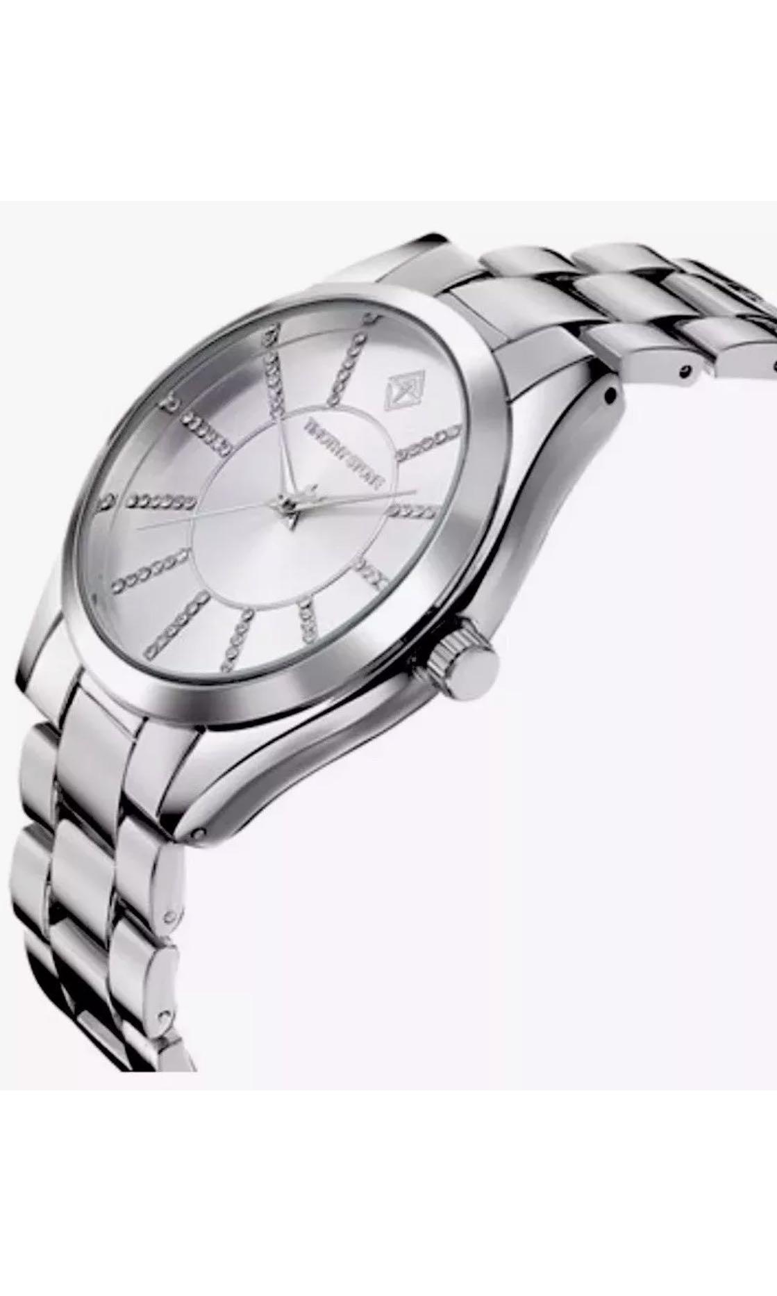 Ladies TIMOTHY STONE Charme Silver Stainless Steel Swarovski Watch. New $240
