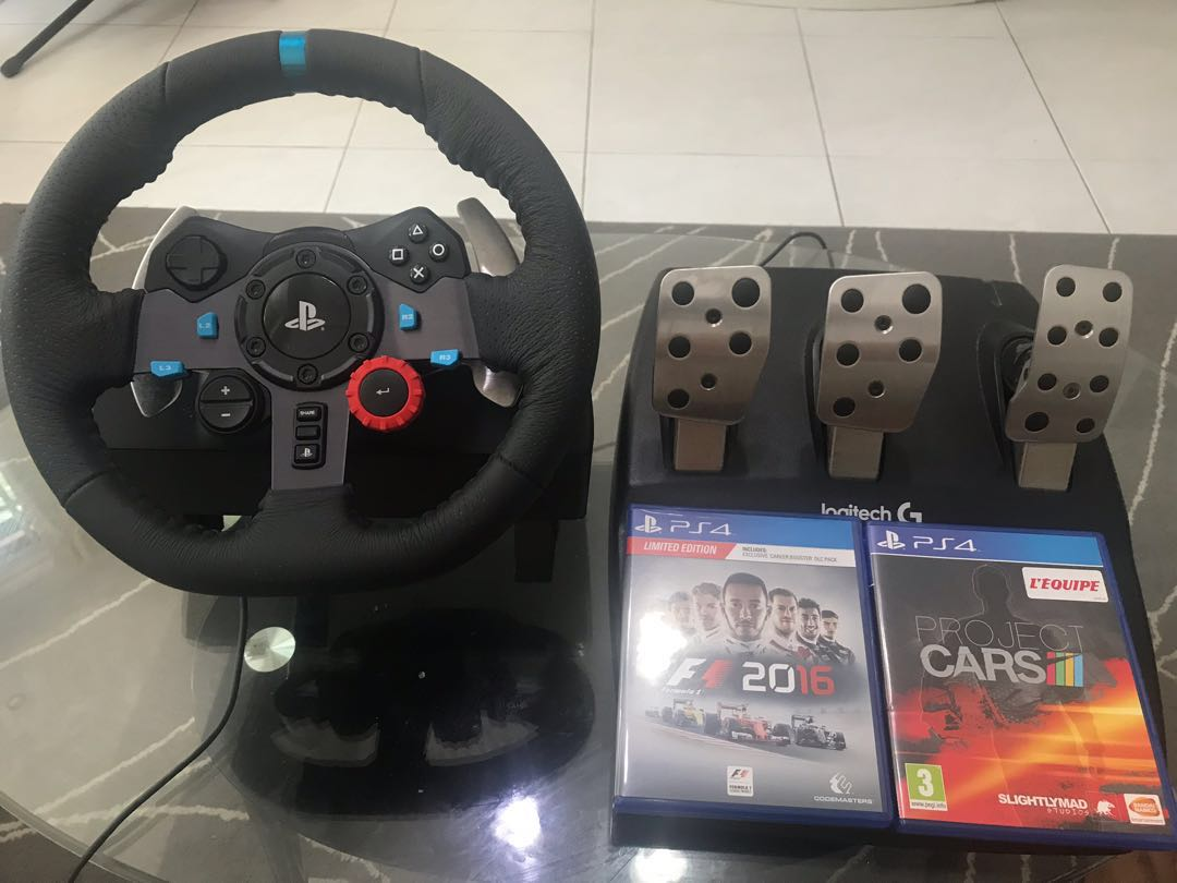 Logitech G29 bundled with Project Cars and F1 2016
