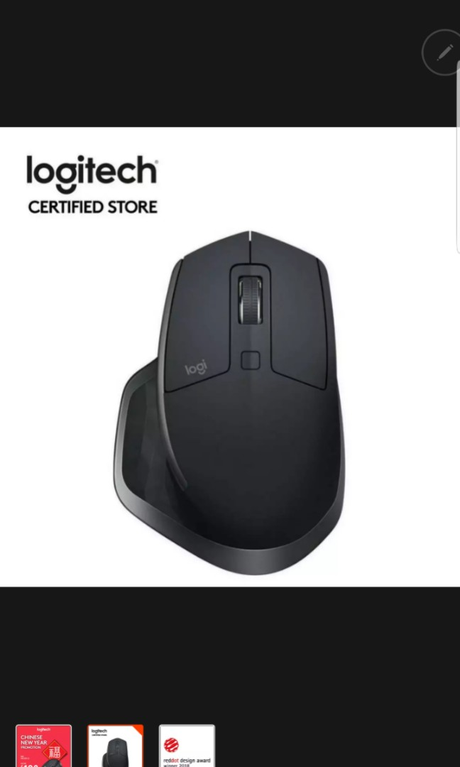 2f74cbdc8d2 Logitech MX Master 2S Graphite Wireless Multi Device Mouse With ...