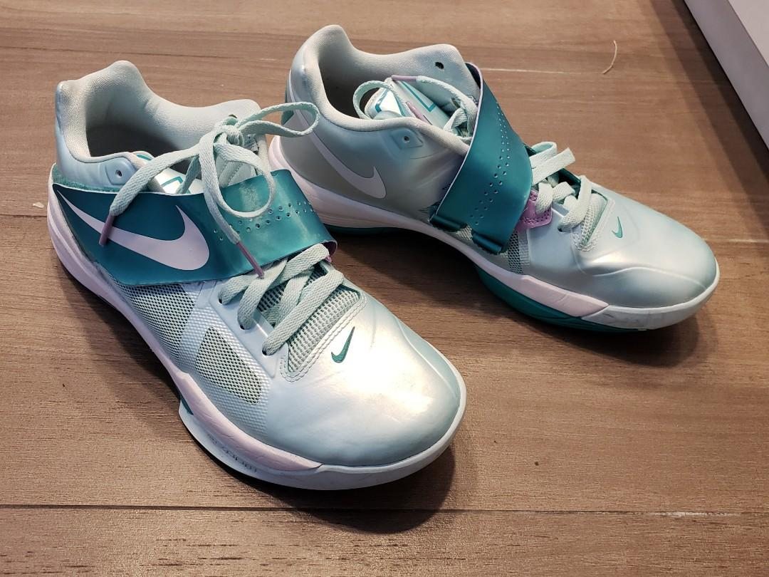 NIKE Zoom KD IV Mint Candy 4 Basketball Shoes Easter Limited Edition 473679- 301