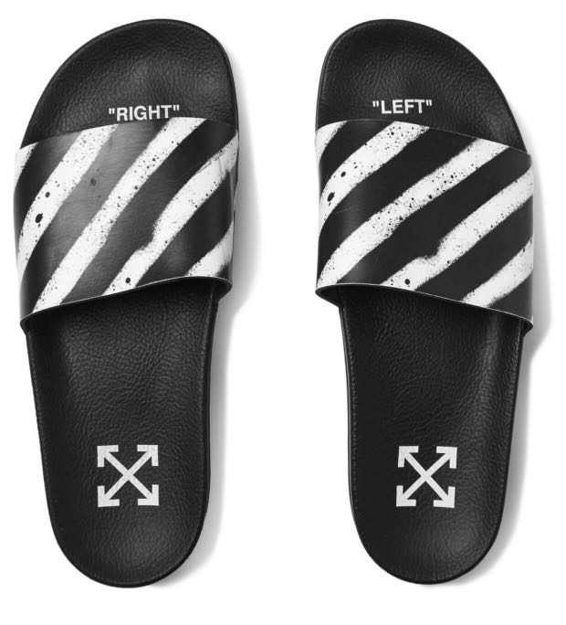 05ebd15ef Off White Rubber Slides, Men's Fashion, Footwear, Slippers & Sandals ...