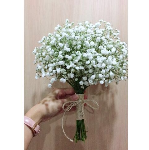Rustic Baby Breath Bouquet Bridal Bouquet Bridesmaid Bouquet Gardening Flowers Bouquets On Carousell