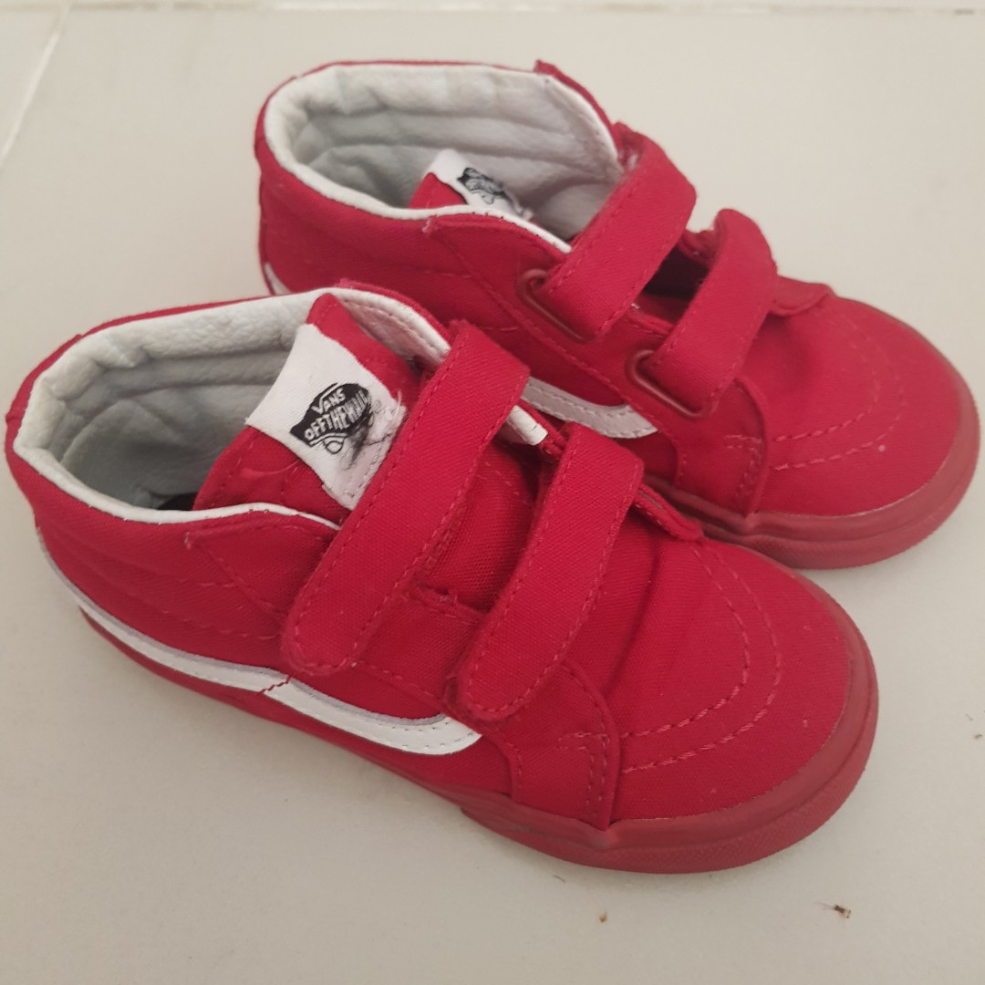 bb569fa5645e68 VANS Off the Wall Authentic s9 kids Red high cut sneakers