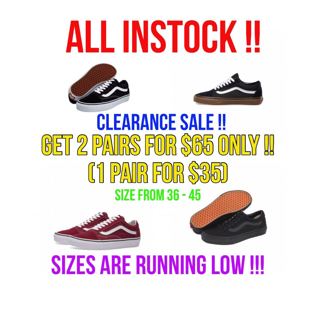 91a7efe1b20 VANS OFF THE WALL CLEARANCE SALE !!