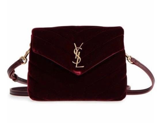 807b66e3f65 YSL toy loulou cross body bag in velvet red, Luxury, Bags & Wallets ...