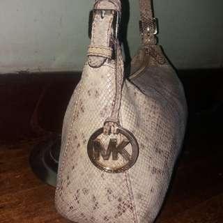 Repriced Original Michael kors mk shoulder bag crock snakeskin leather