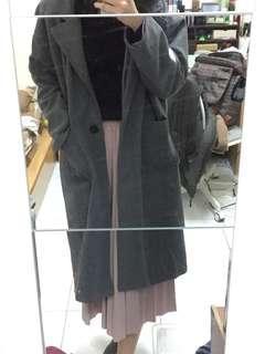 🚚 深灰色毛呢大衣
