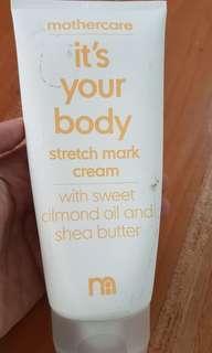 Mothercare Stretch mark cream 200ml anti selulit ibu hamil menyusui kulit mulus masih sisa 90% jarang banget dipakai exp Nov 2019