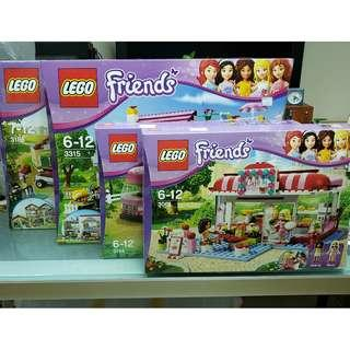 MISB 全新 Lego Friends 系列 第一代 全22盒 3061, 3063, 3065, 3183至3189, 3315, 3930至3939, 3942 (95%靚盒)