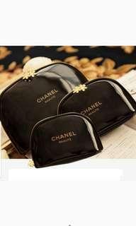 Chanel香水贈品 漆皮貝殼收納包