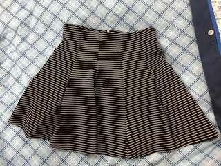Topshop Striped Skater Skirt