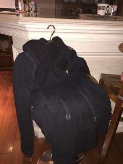 🚚 2% 黑色美式飛行員大衣外套
