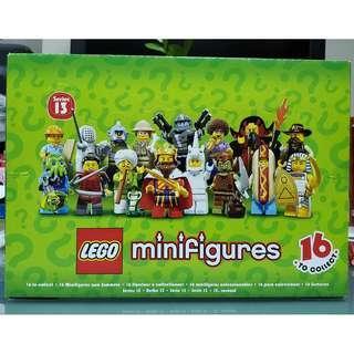 MISB 全新 Lego 71008 Minifigures 人仔系列 Series 13 - Sealed Box (有60包人仔, 100%靚盒, 連啡瓦通紙盒)