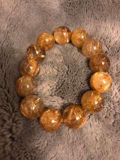 NEW 黃髮晶手鏈 黃晶 手鍊 Bracelet