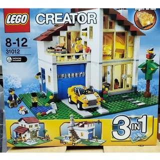 MISB 全新 Lego 31012 Creator 系列 Family House 白色大宅 (100%靚盒)