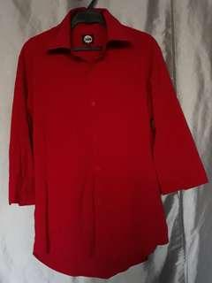 Sub Red Polo Long Sleeve for Men