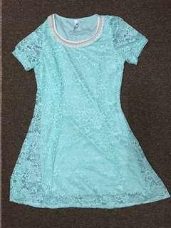 Tiffany Blue Lace Top #MakeSpaceForLove