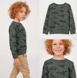 Sweater H&M Dino size 2-4thn