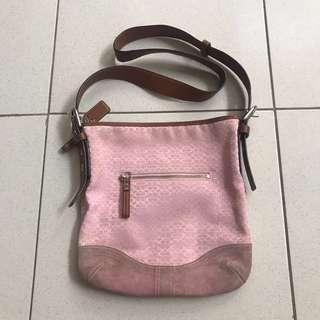 original Coach pink bag