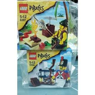 MISB 全新 Lego 8396 8397 Pirates 系列 Soldier's Arsenal and Pirate Survival (100%靚盒)