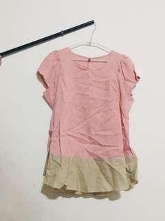 🚚 韓版粉紅上衣