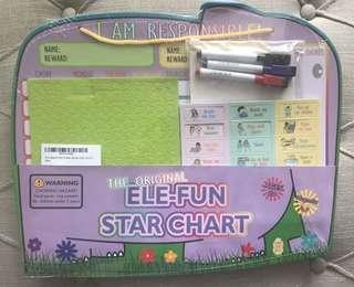Brand New The Original Ele-Fun Star Chart