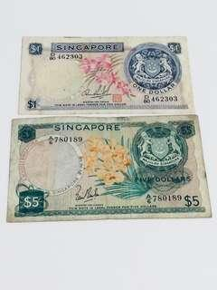 🚚 Old S'pore Orchid Currency notes