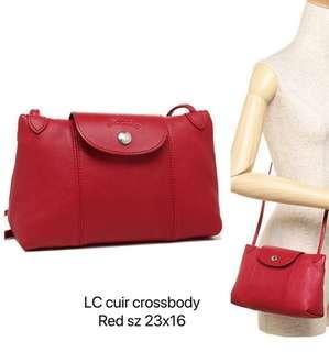 ad0151318147d Original Longchamp Cuir Crossbody Bag